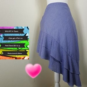 🆕️Size 16 & 24W a new day Hi-Low Ruffle Skirt